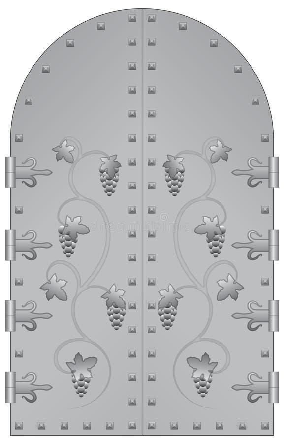 Download Gate stock illustration. Image of large, rivets, grape - 21459540