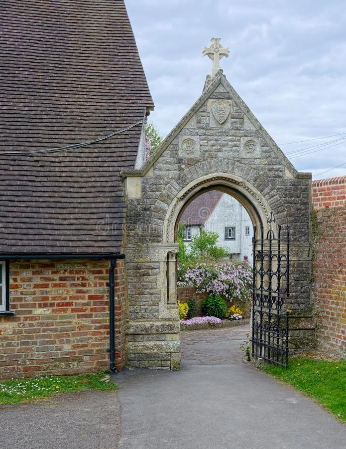 Gate and archway stock image