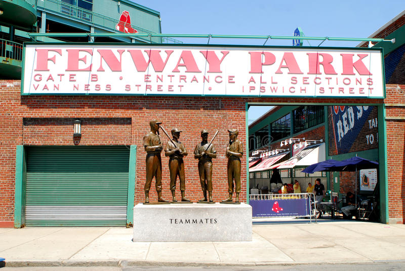 Gate B entrance to Fenway Park stock photos