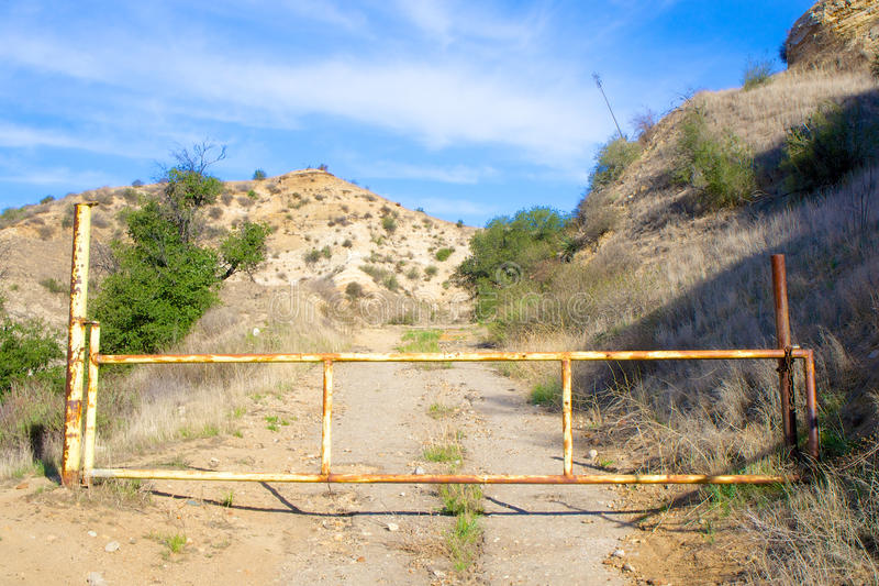 Download Gate Bars Entrance to Road stock photo. Image of locked - 37949776