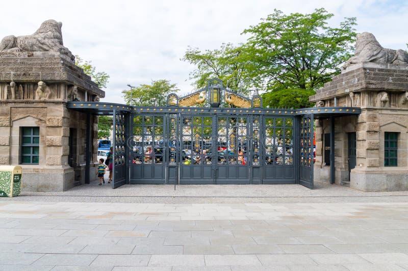 Gate of Berlin Zoo. Berlin, Germany - August 18, 2018: Gate of Berlin Zoo royalty free stock photo