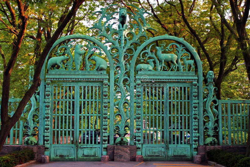 Gate at Bronx Zoo royalty free stock images