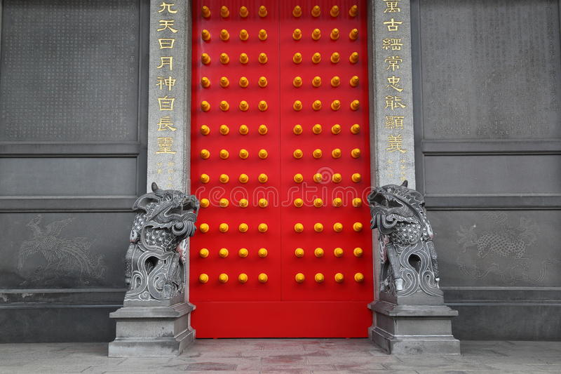 Gate of chinese temple. Pictured the gate of chinese temple in Taipei,Taiwan stock photography