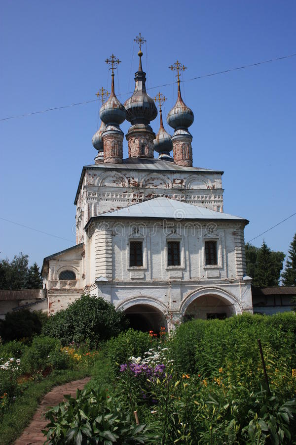 The Gate Church of St. John the Theologian in the Monastery of Archangel Michael. Russia stock photography