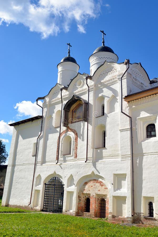 Gate Church of the Transfiguration. Gate Church of the Transfiguration in Kirillo-Belozersky monastery near City Kirillov, Vologda region, Russia stock photography