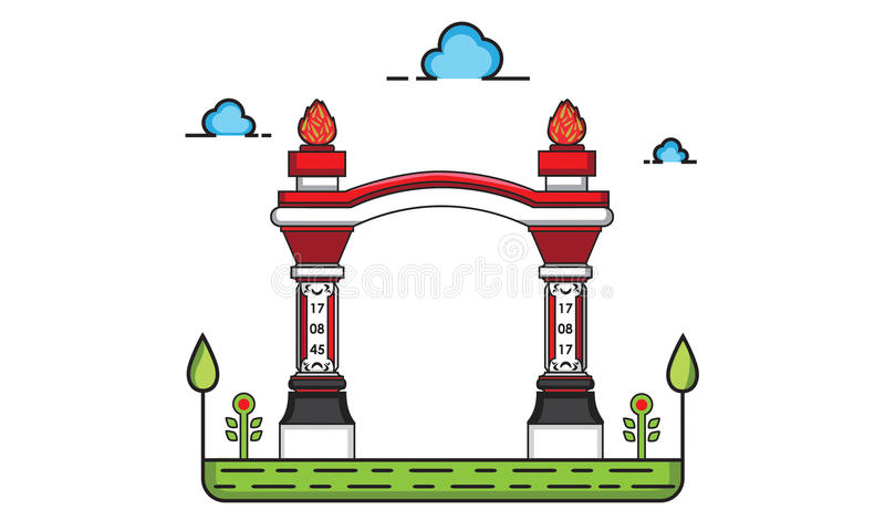 Gate construction royalty free illustration