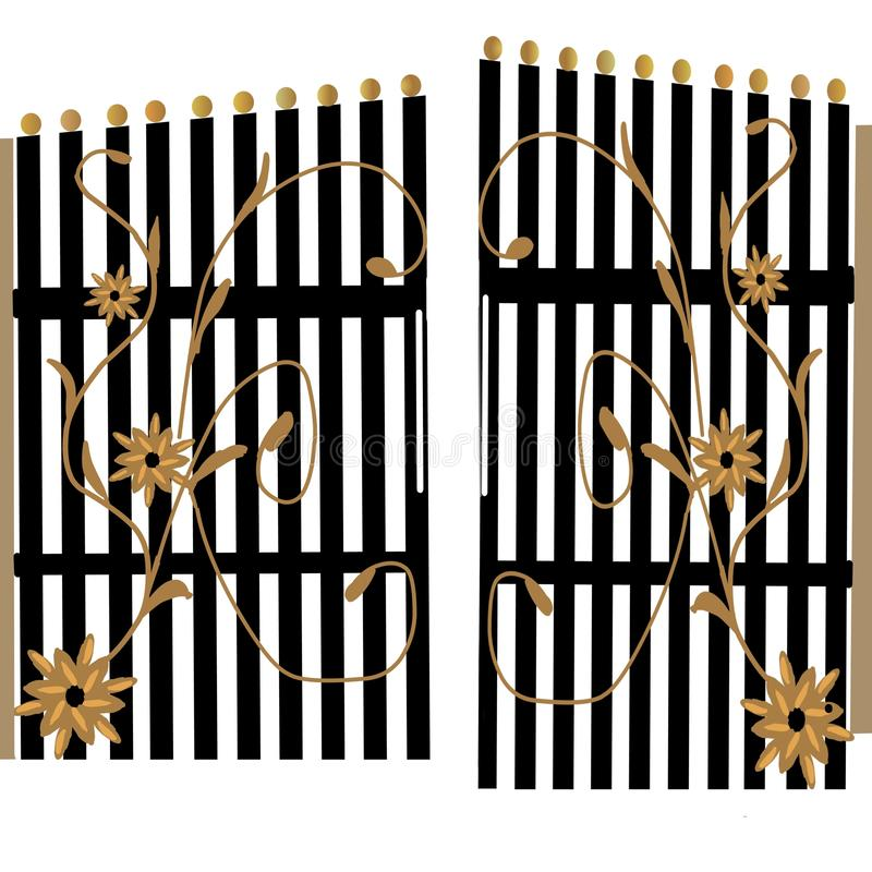 Gate. Disheveled gate vector vector illustration