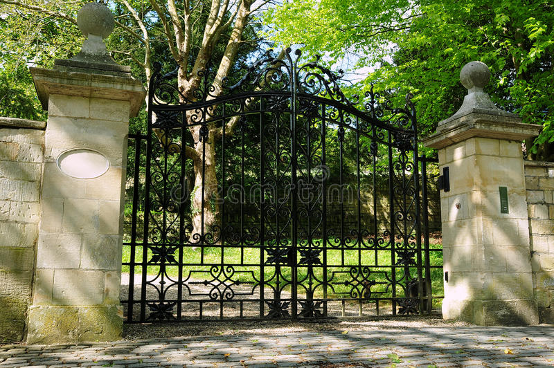 Gate and Driveway royalty free stock photo