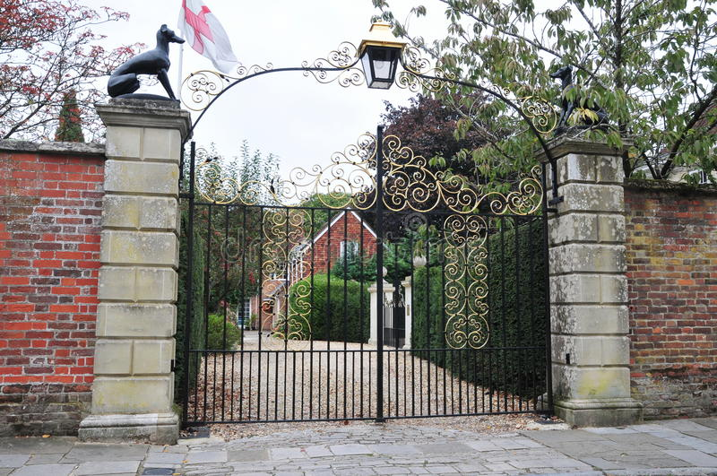 Download Gate and Driveway stock image. Image of building, garden - 25964327