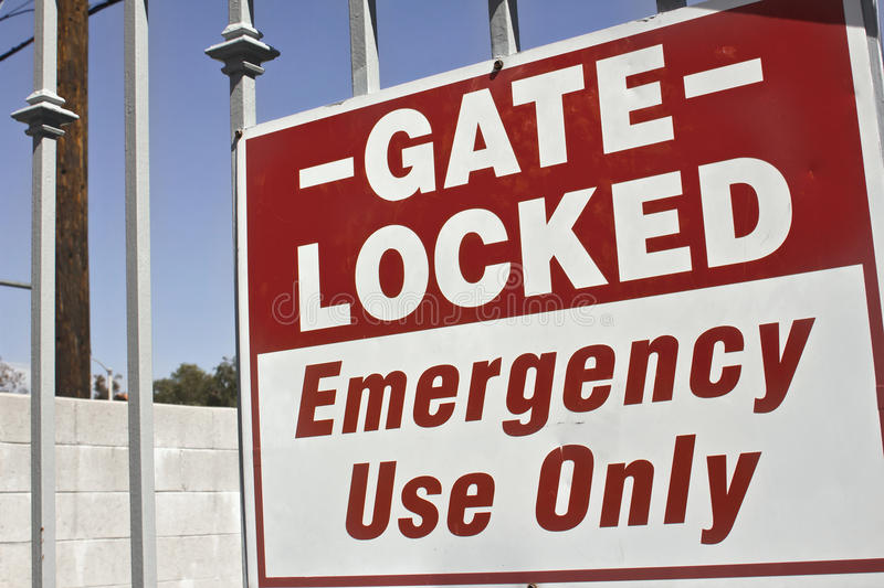 Gate Emergency Use Only Royalty Free Stock Image