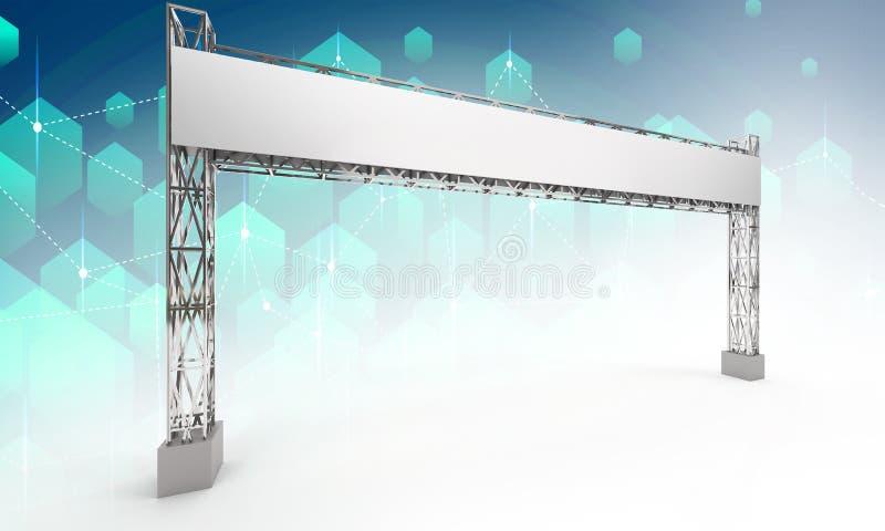 Gate exhibition rigging modern design vector illustration