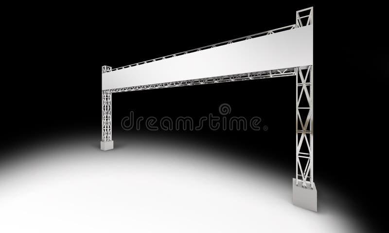 Gate exhibition rigging modern design royalty free illustration