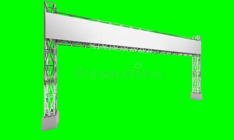 Gate exhibition rigging modern design stock illustration