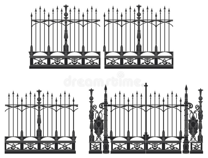 Gate and Fence royalty free illustration