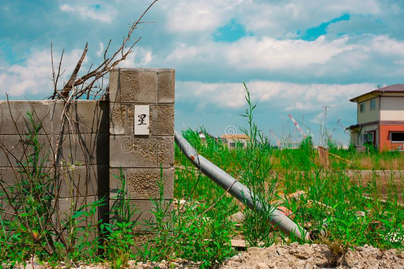 The Gate after Fukushima Tsunami Disaster in Ishinomaki, Japan. Fukushima Tsunami disaster happened on March 11 in 2011. In Septem. Ber Tokyo area royalty free stock images