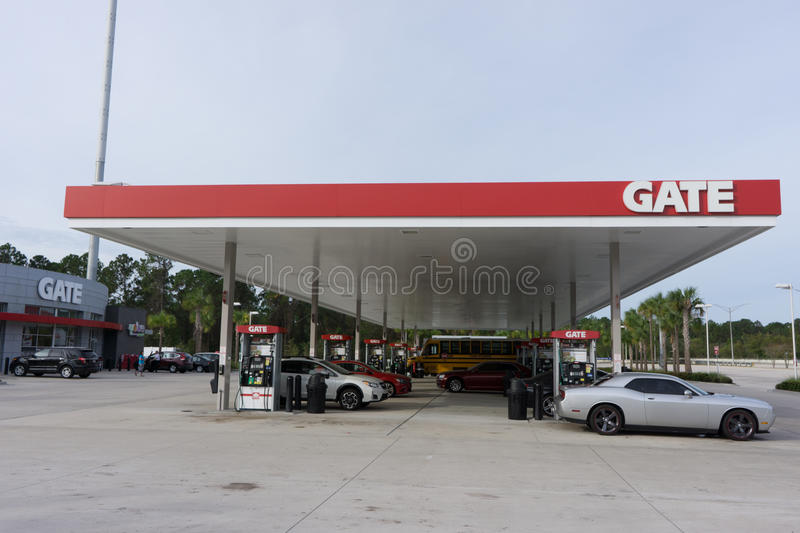 Gate Gas Station royalty free stock image