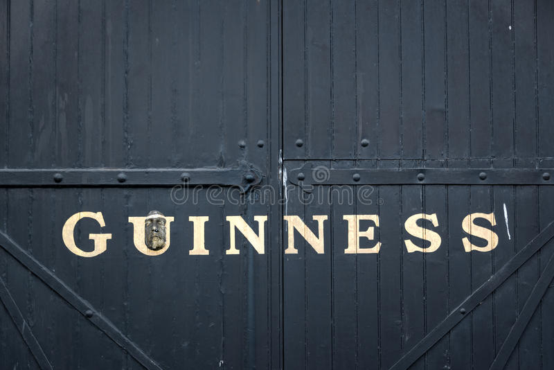 Gate at the Guinness storehouse brewery in Dublin. Gate at the Guinness storehouse brewery. The Guinness Storehouse is a popular tourist attraction in Dublin royalty free stock photography