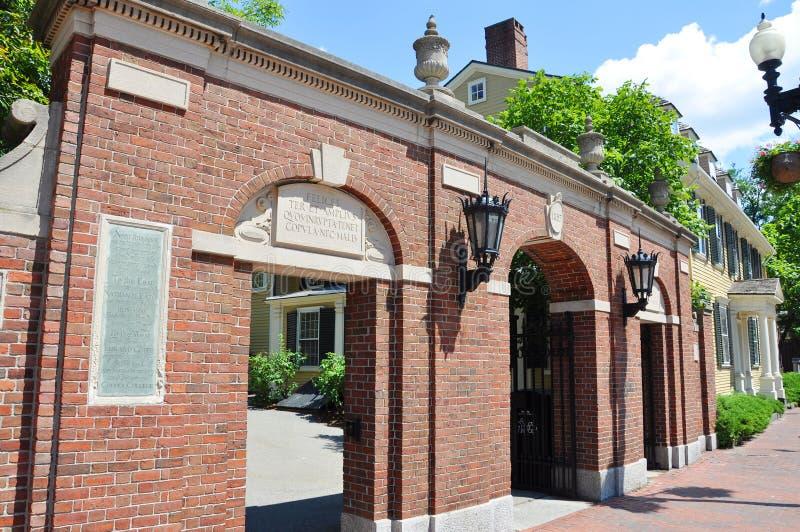 Gate of Harvard University. Cambridge, Massachusetts, USA royalty free stock image