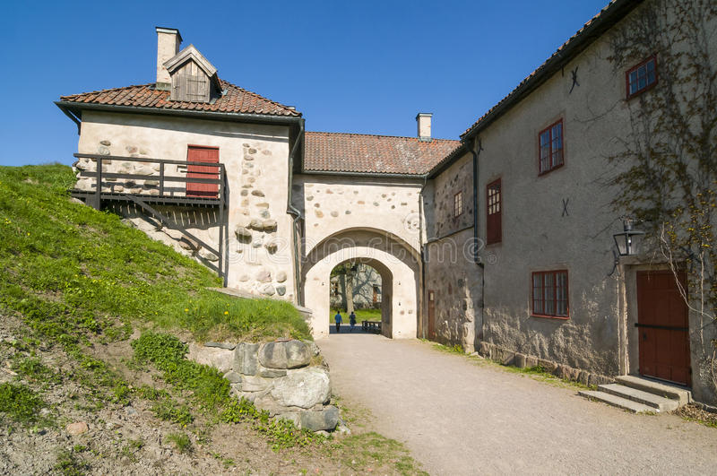 The gate house Nykoping castle royalty free stock photo