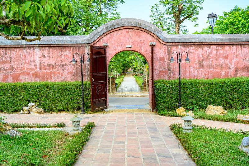 Gate to Imperial City Hue, Vietnam Gate of the Forbidden City of Hue. royalty free stock images