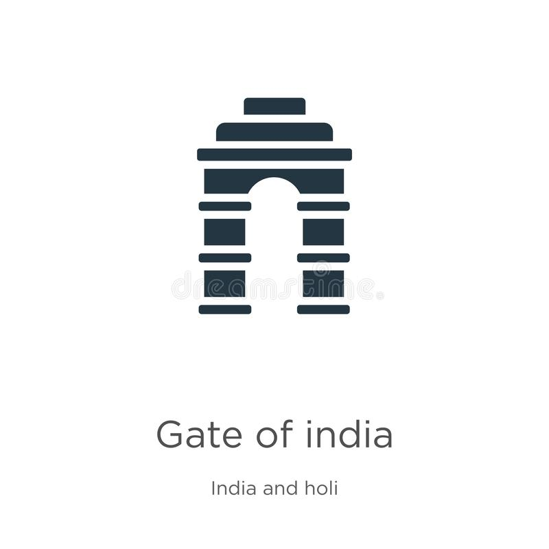 Gate of india icon vector. Trendy flat gate of india icon from india collection isolated on white background. Vector illustration royalty free illustration