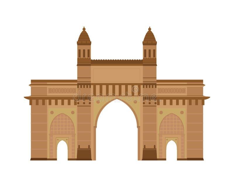 Gate of India, Mumbai Bombay. Vector illustration. vector illustration