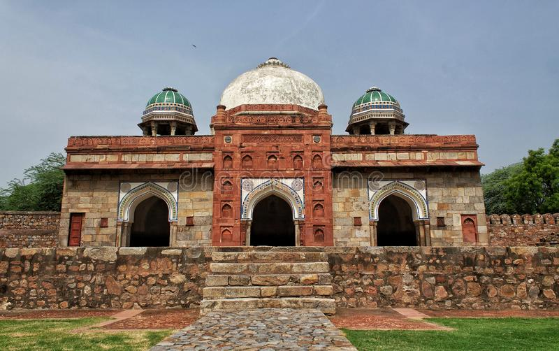 Gate of Isa Khan`s Tomb, Delhi India. The Gate of Isa Khan`s Tomb, Delhi India. This octagonal tomb known for its sunken garden was built for a noble in the stock images