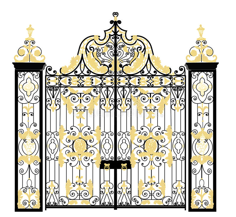 Gate of Kensington Palace, London, United Kingdom stock image