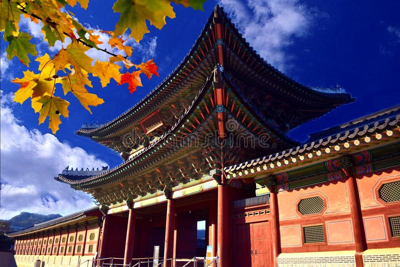 A Gate of Korean Palace stock image