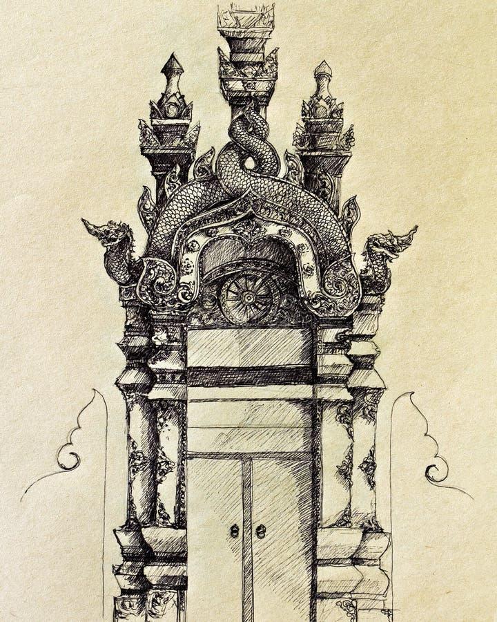 Gate Lanna stock illustration