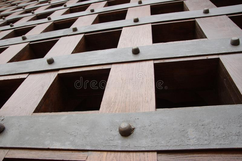 Gate lattice. The lattice of medieval castle's gate royalty free stock images