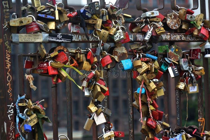 Gate of locks in east side gallery stock illustration