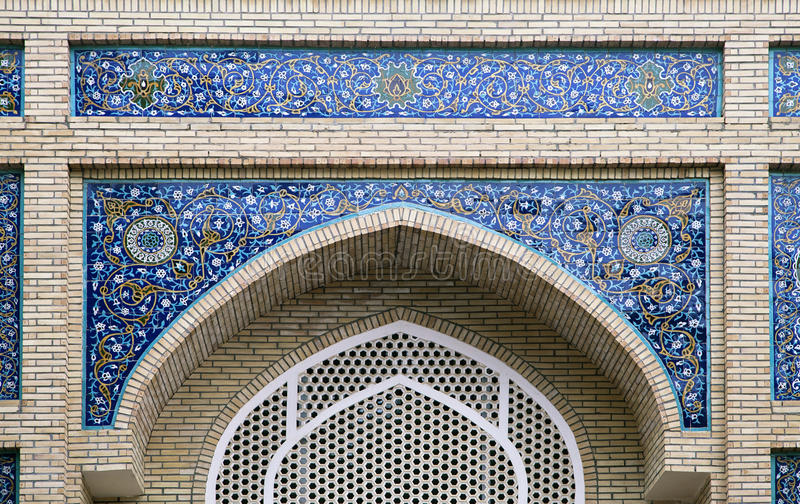 Gate of a mosque in Samarkand. Arch portal of a mosque in Samarkand, Uzbekistan stock photos