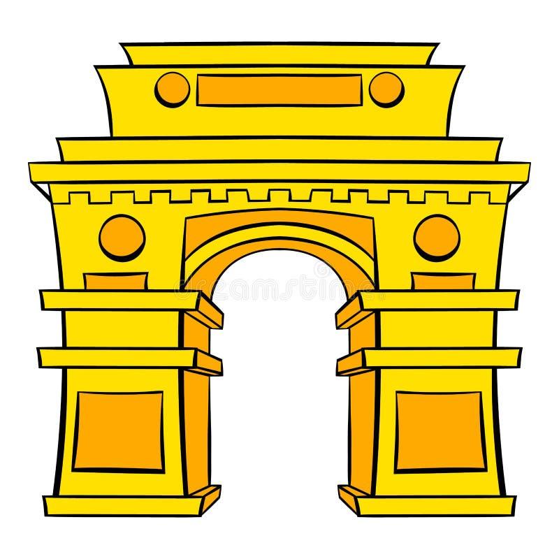 Gate, New Delhi, India icon cartoon. Gate, New Delhi, India icon in cartoon style isolated vector illustration vector illustration