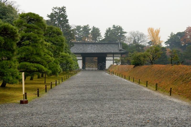 Gate in Nijo Castle royalty free stock image