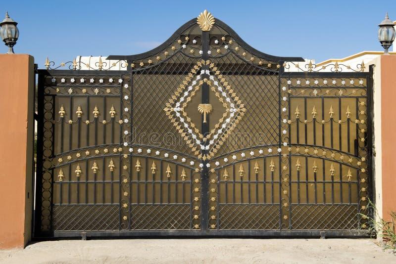 Gate in Oman stock image