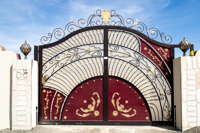 Gate in Oman stock images