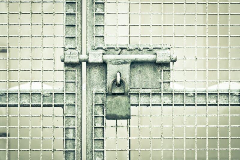 Gate Padlock Royalty Free Stock Image