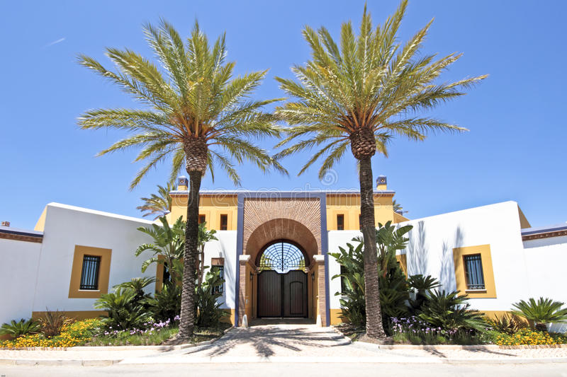 Download Gate with palm trees stock image. Image of trees, architectural - 25595961