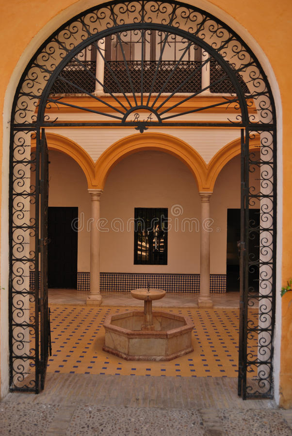 Gate patio stock image