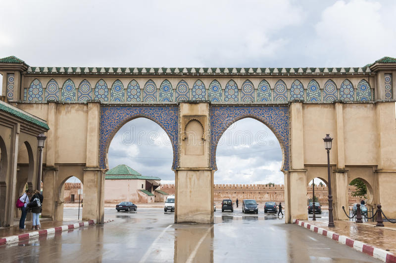 Gate in Meknes, Morocco royalty free stock photo