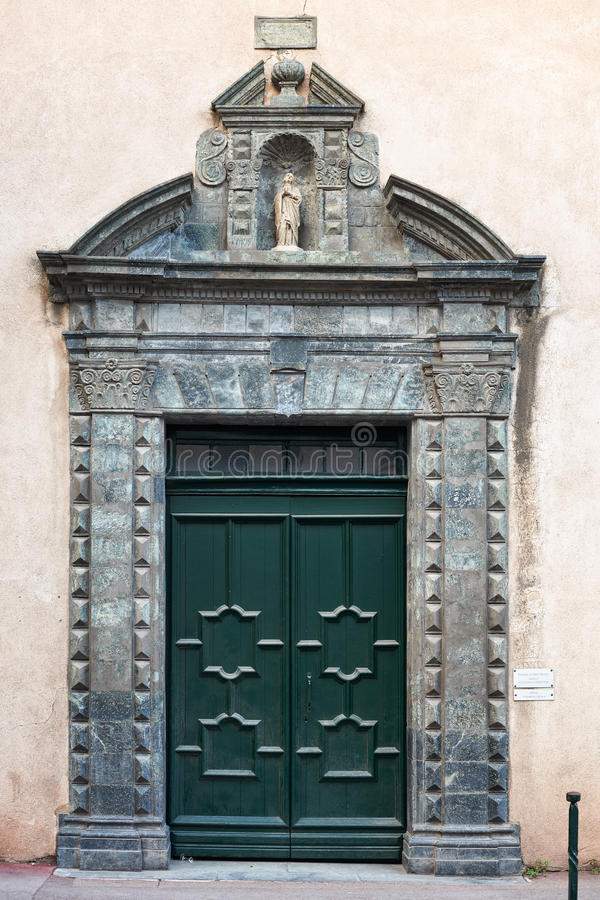 Download The Gate Of The Saint Tropez Church Stock Photography - Image: 36114682