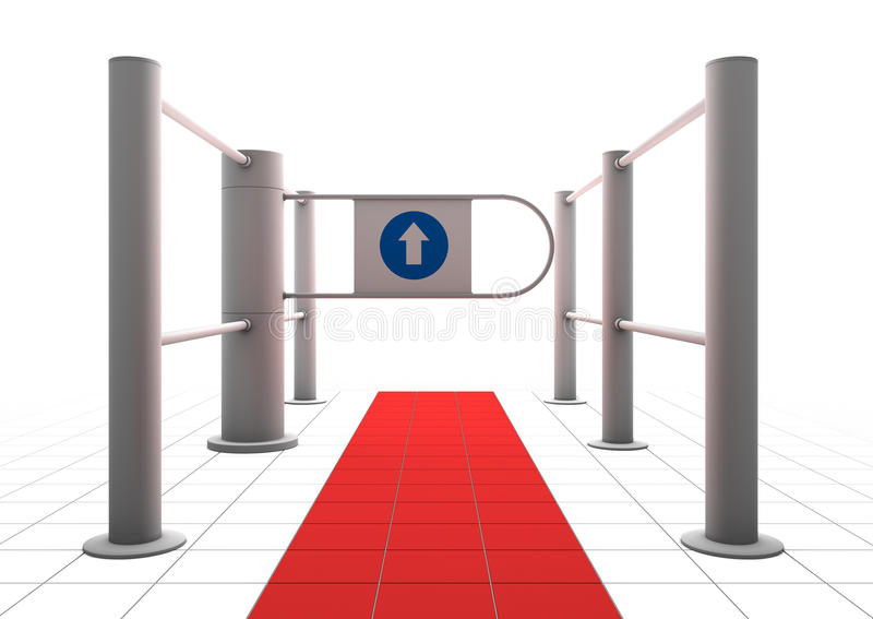 Download Gate into secured area stock illustration. Image of entry - 12479916