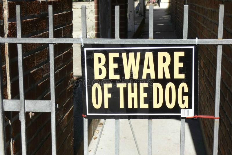Beware of the Dog royalty free stock image