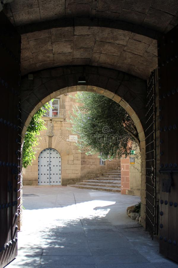Gate of Spanish town stock image
