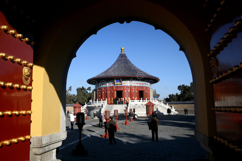 Download Gate of Temple of heaven stock image. Image of king, beijing - 3857579