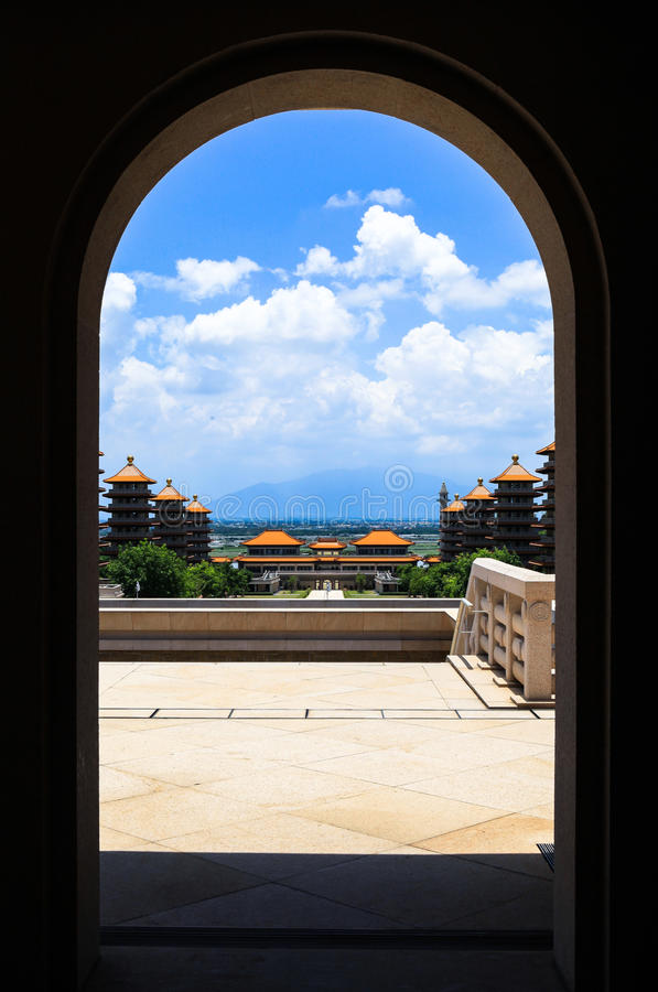 Gate of Temple in Taiwan royalty free stock photo