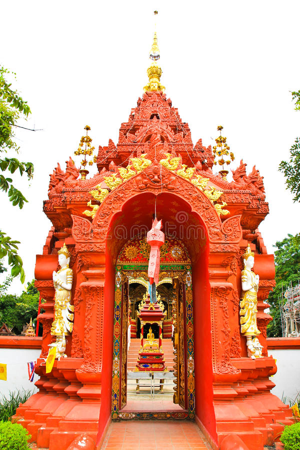 Gate of temple at Wat Ming Muang. Chiangrai province of Thailand stock images