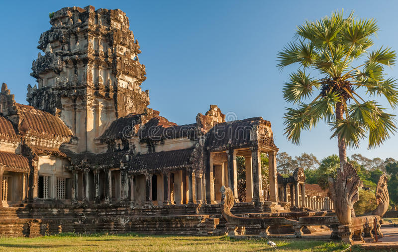 Gate to Angkor Wat royalty free stock images