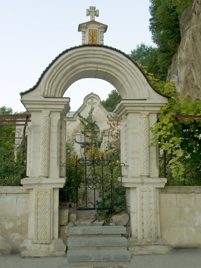 Gate to cemetery royalty free stock images